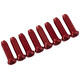 Red Cycling Products Wire End Caps Outer Brake Cable for shift and brake cables set of 8 red